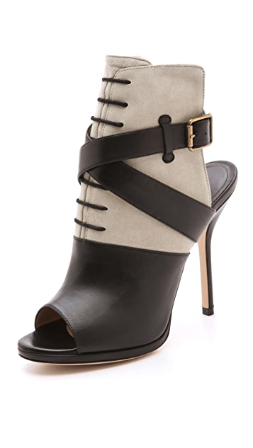 Paul Andrew Pegasus Peep Toe Booties