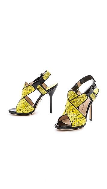 Paul Andrew Babylon Snakeskin Sandals