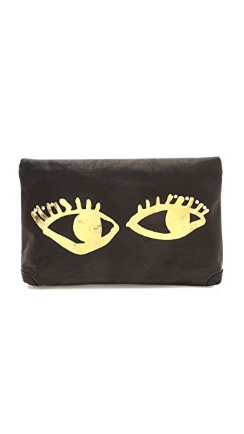 Paris House Peeping Tom Clutch