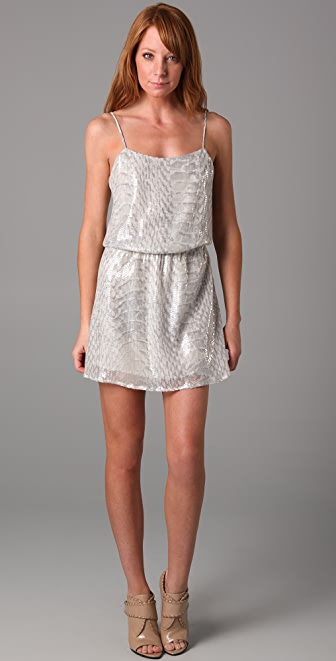 Parker Snake Sequin Cami Dress