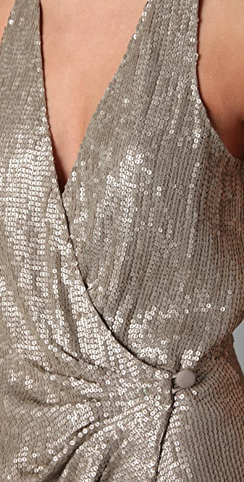 Parker Baby Sequin Wrap Dress