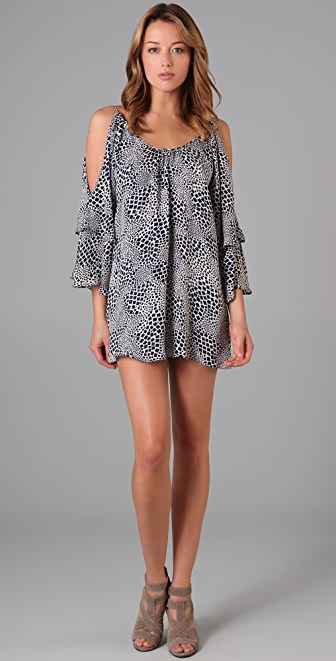Parker Double Sleeve Print Dress