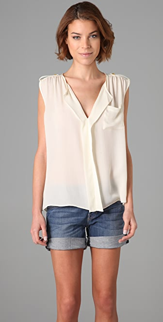 Parker Tab Shoulder Top