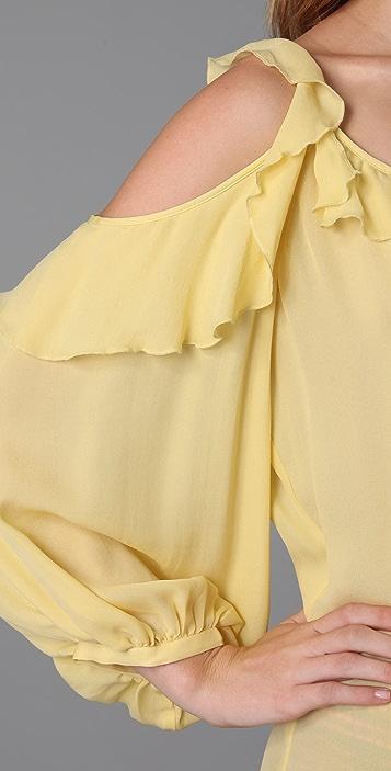 Parker Slit Sleeve Tie Front Top