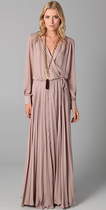 Parker Wrap Dress with Pleated Skirt
