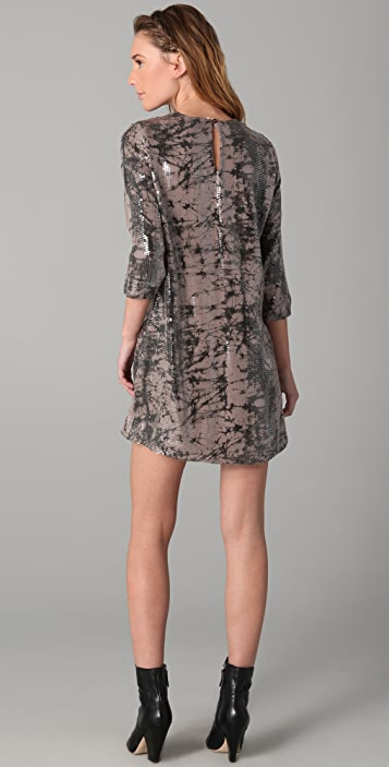 Parker Tie Dye Sequined Dress