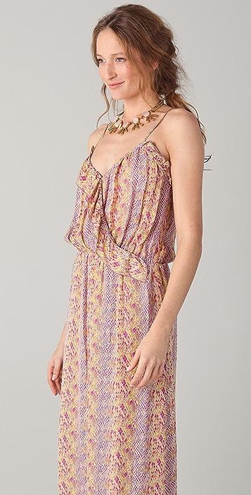 Parker Long Ruffle Wrap Dress