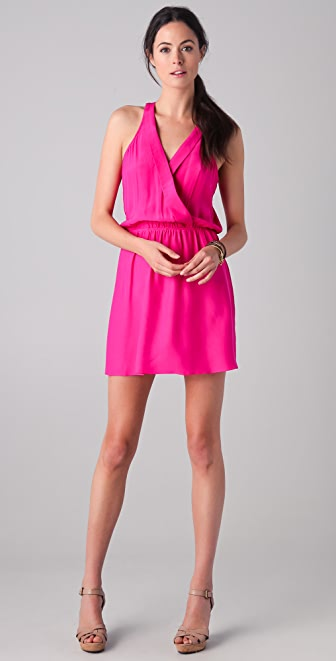 Parker Lapel Wrap Dress