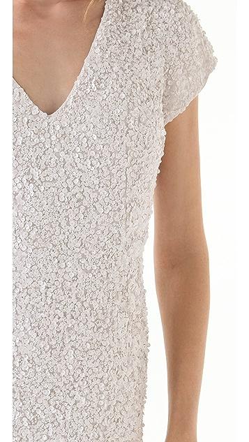 Parker Sequined V Neck Dress
