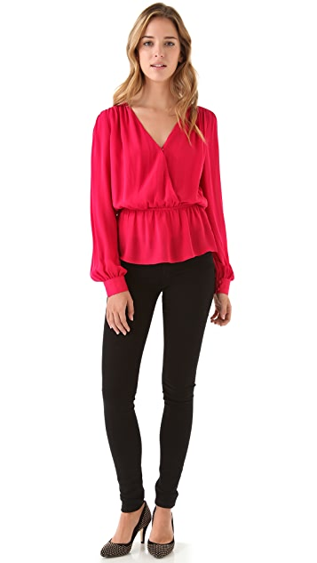 Parker Quilted Wrap Top