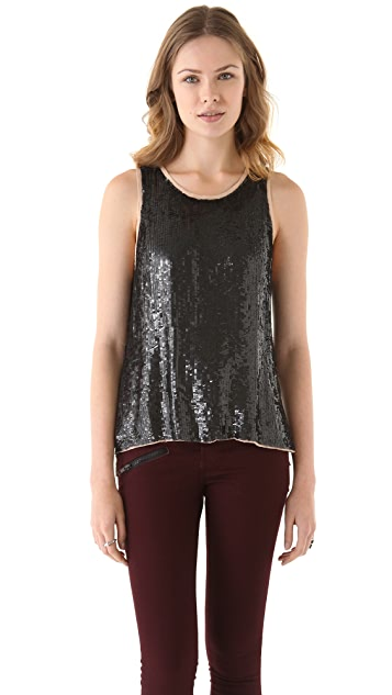 Parker Cross Back Sequin Tank