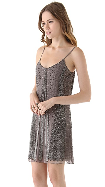 Parker Spaghetti Strap Beaded Dress