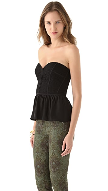 Parker Strapless Lace Top