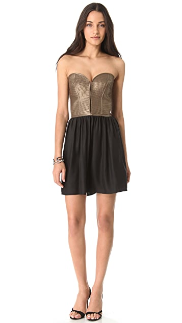 Parker Leather Corset Dress