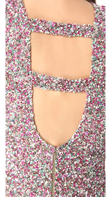 Parker Knit Splatter Sequins Dress
