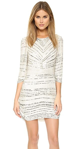 Parker Parker Black Petra Dress - Silver