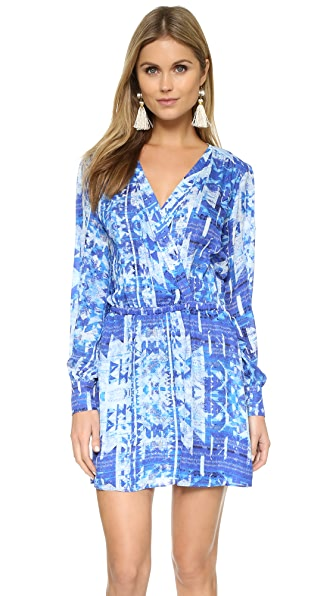 Parker Long Sleeve Wrap Dress - Santiago