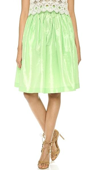 PARTYSKIRTS Mint Lady Silk Skirt