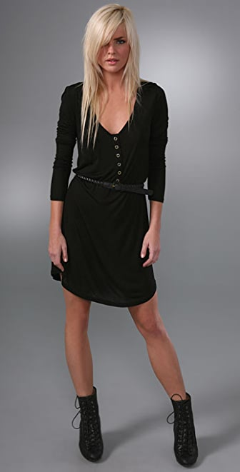 PJK Patterson J. Kincaid Long Sleeve LA Belted Zip Dress