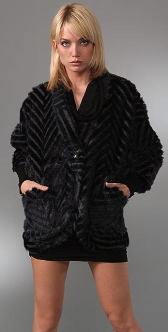 PJK Patterson J. Kincaid Justyna Faux Fur Jacket