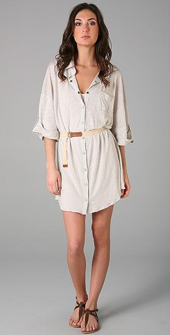 PJK Patterson J. Kincaid Crystal Linen Tunic Dress