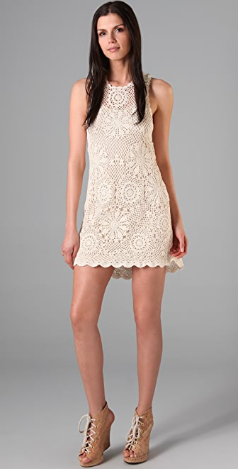 PJK Patterson J. Kincaid Crochet Hampton Dress