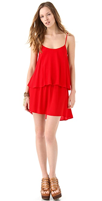 PJK Patterson J. Kincaid Ivy Drop Ruffle Dress