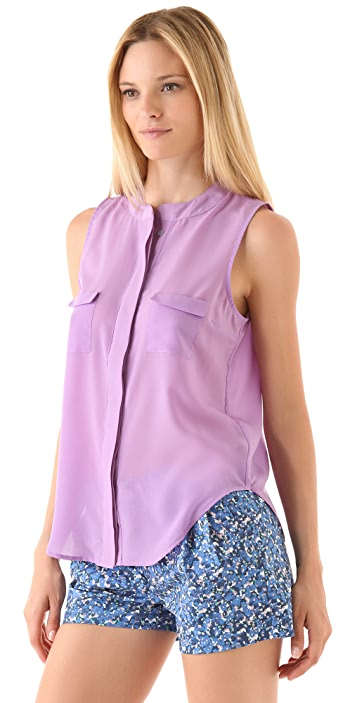 PJK Patterson J. Kincaid Carolyn Rae Sleeveless Blouse