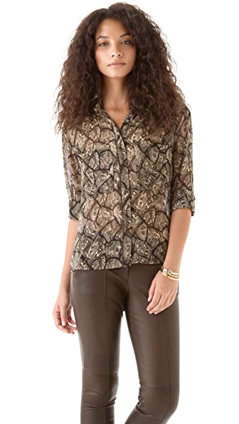 PJK Patterson J. Kincaid Harlow Long Sleeve Blouse