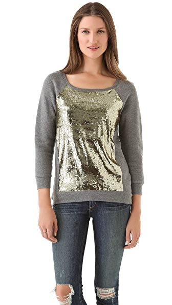 PJK Patterson J. Kincaid Libra Sequined Sweatshirt