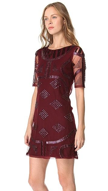 PJK Patterson J. Kincaid Griffin Beaded Dress