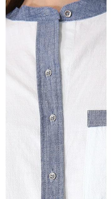 PJK Patterson J. Kincaid Darnell Pocket Blouse