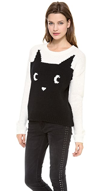 PJK Patterson J. Kincaid Meow Colorblock Pullover