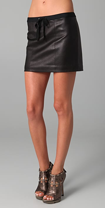 Payne Bold Leather Skirt