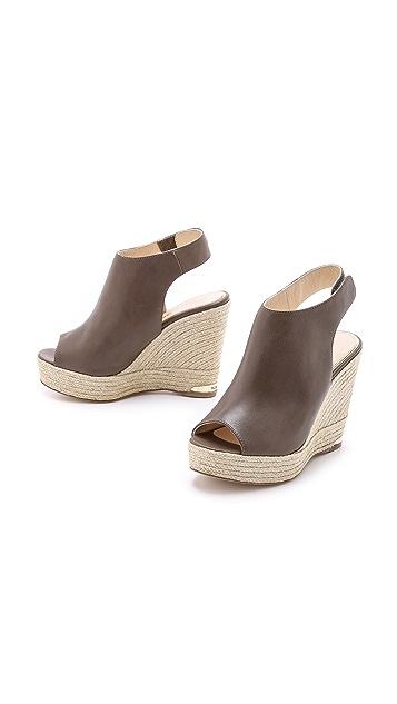 Paloma Barcelo Slingback High Wedge Sandals
