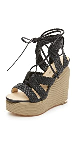Lorence Wedge Lace Up Sandals                Paloma Barcelo