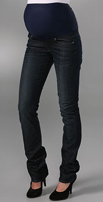 PAIGE Blue Heights Skinny Maternity Jeans
