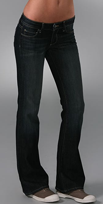 PAIGE Petite Hollywood Hills Boot Cut Jeans