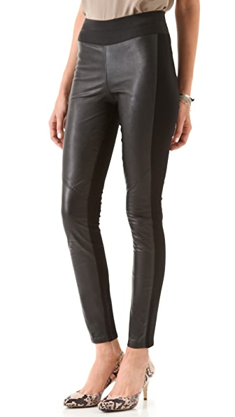 Paige Denim Paloma Leather Legging Jeans