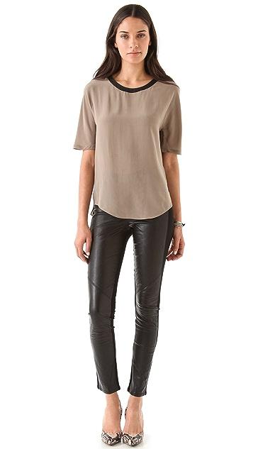 PAIGE Paloma Leather Legging Jeans