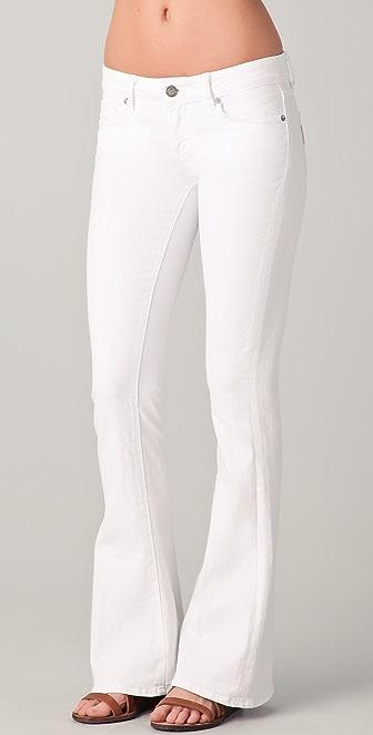 PAIGE Lou Lou Petite Skinny Flare Jeans