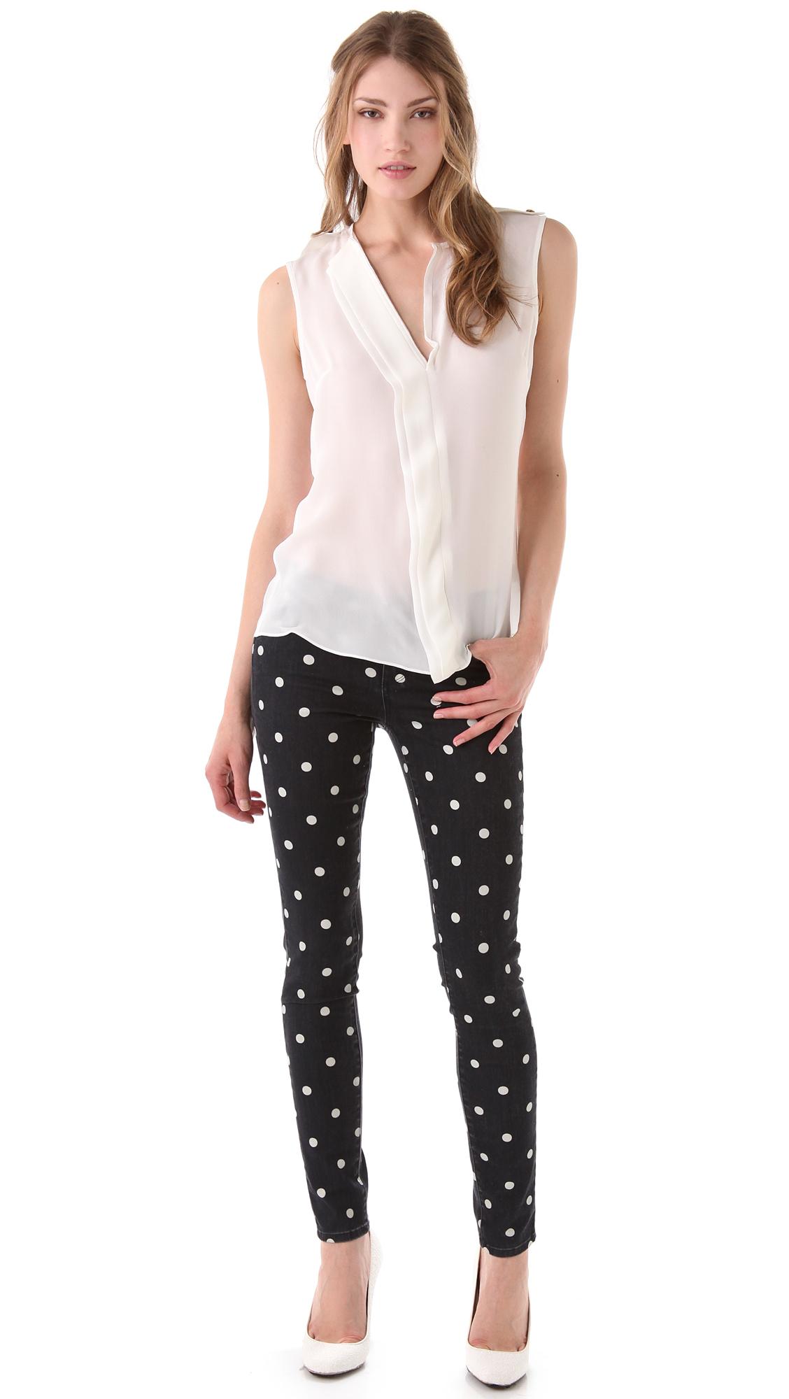Paige polka dot verdugo skinny jeans shopbop sisterspd