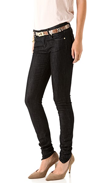 Paige Denim Ultra Skinny Rucher Jeans