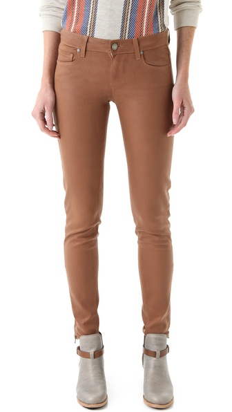 Paige Denim Eve Zip Coated Skinny Jeans