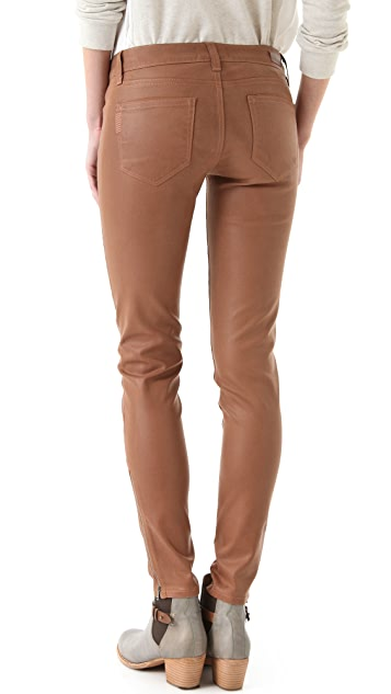 PAIGE Eve Zip Coated Skinny Jeans