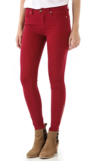PAIGE Hoxton Ultra Skinny Jeans with Zips