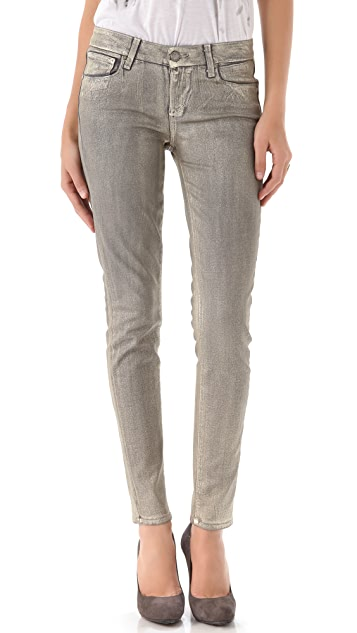 PAIGE Coated Verdugo Ultra Skinny Jeans