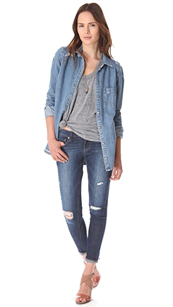 PAIGE Verdugo Ultra Skinny Destructed Jeans