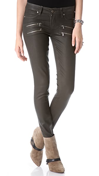 Paige Denim Edgemont Skinny Coated Jeans