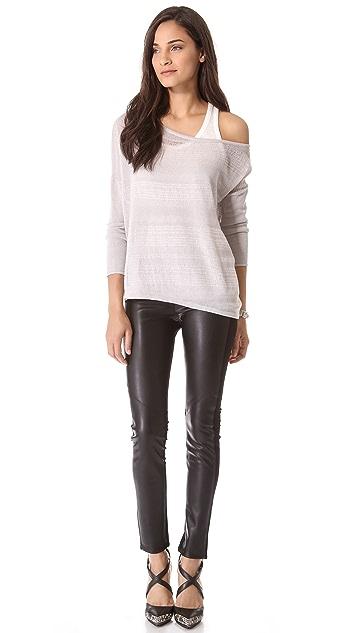 PAIGE Paloma Vegan Leather Leggings